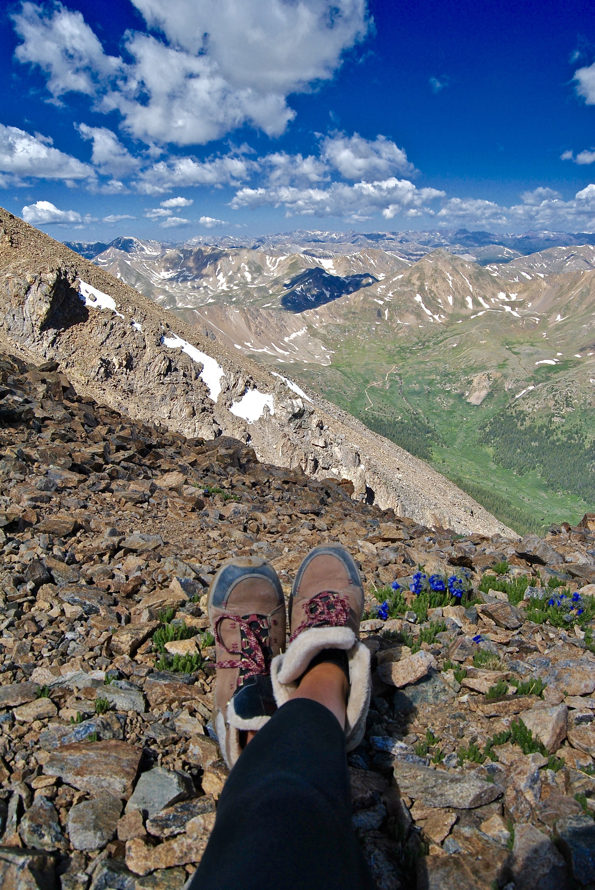 Glad I took my winter hiking boots - it was still cold, even in late June
