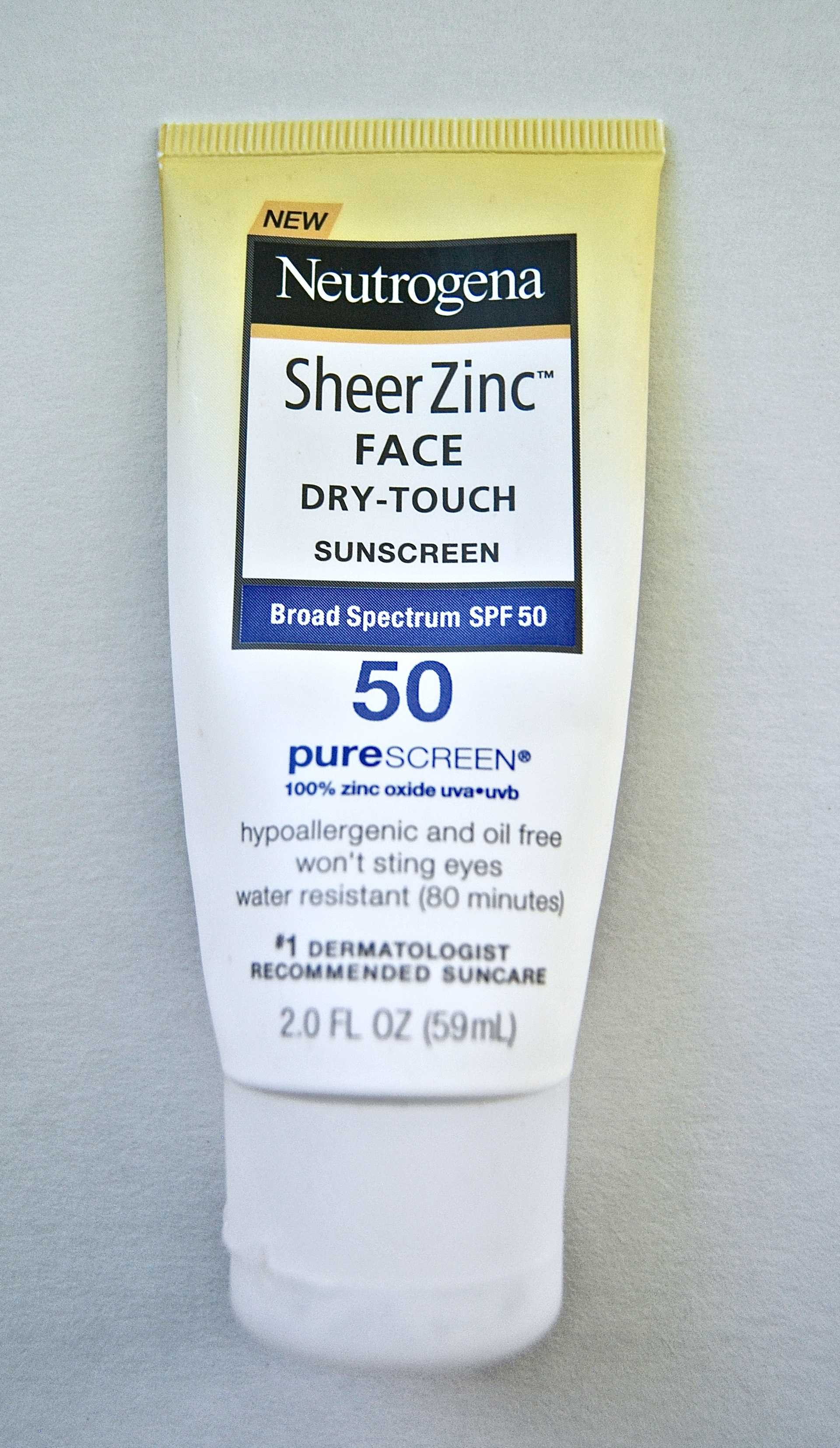 Neutrogena® SheerZinc™Dry Touch Sunscreen - This stuff is so protective because it's formulated with over 21% zinc oxide - meaning it's thick & pasty, but offers some of the best photoprotection out there. Use this stuff on days you know your UV exposure will be increased.