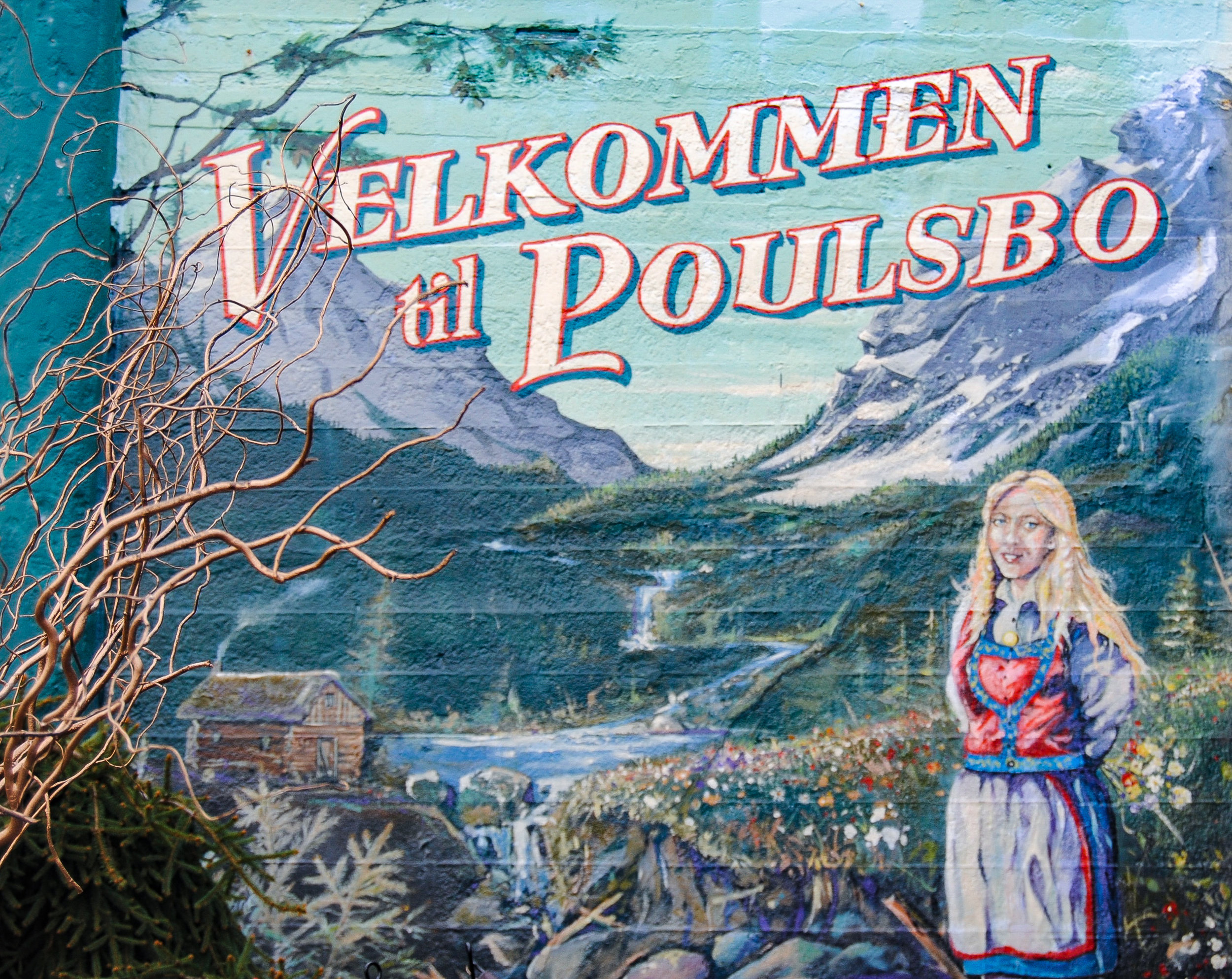 One of many murals - an ode to Poulsbo's Norwegian heritage
