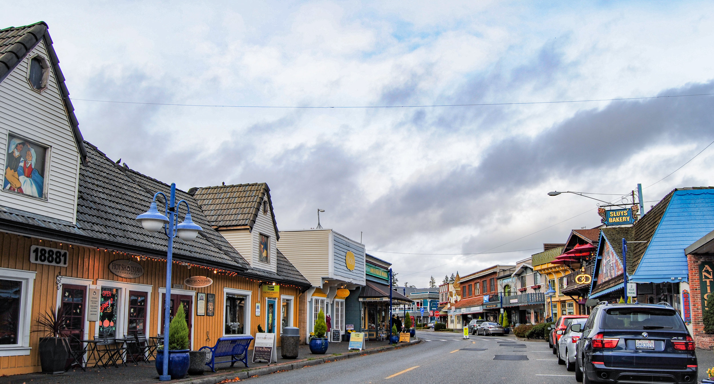 Colorful buildings, mimicking costal Scandinavian homes
