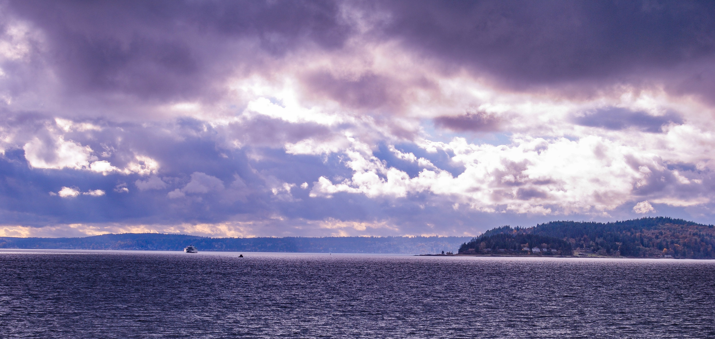 Bainbridge Island from Ferry