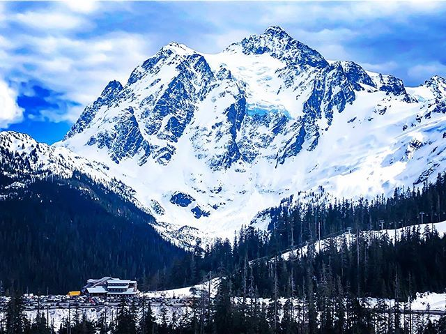 View of Mount Shuksan from Mount Baker Ski Area