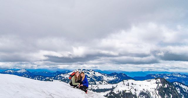 Thanks for being the best adventure friend a girl could ask for, and for accidentally almost summiting Mount Baker with me #whistlingdixie #mistcloud #sunburn #eastonglacier #wrongtrailagain