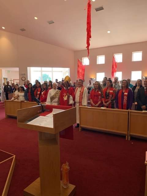 Bishop Kym Lucus visitation and conformations