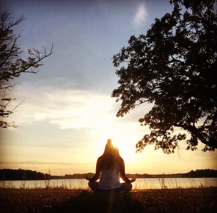 Sunset meditation at Loon Lake in Vergas, Minnesota.