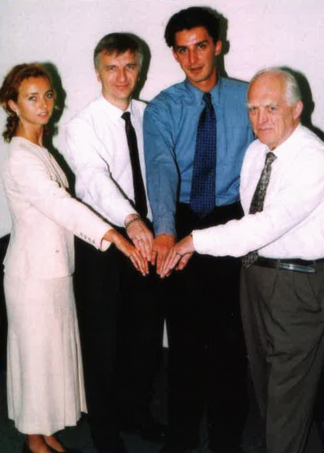 The small ring worn by these Canadian engineers is a symbol of their professional oath to uphold the public interest. From left, Nataliya Hearn, Olev Maimets, Sini Stojicic and Lem Maimets.