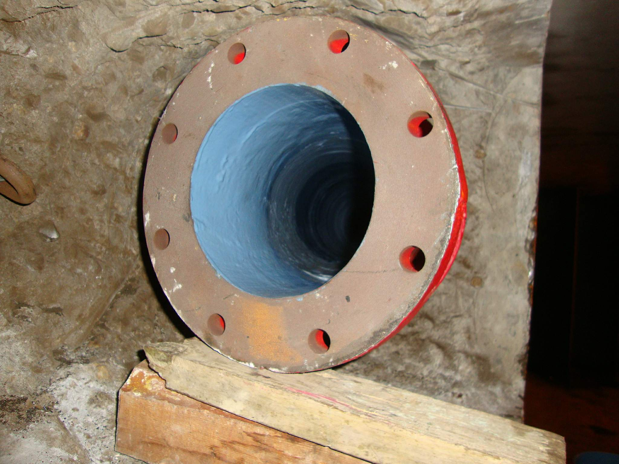 Access Point for Link Pipe Sleeve Insertion