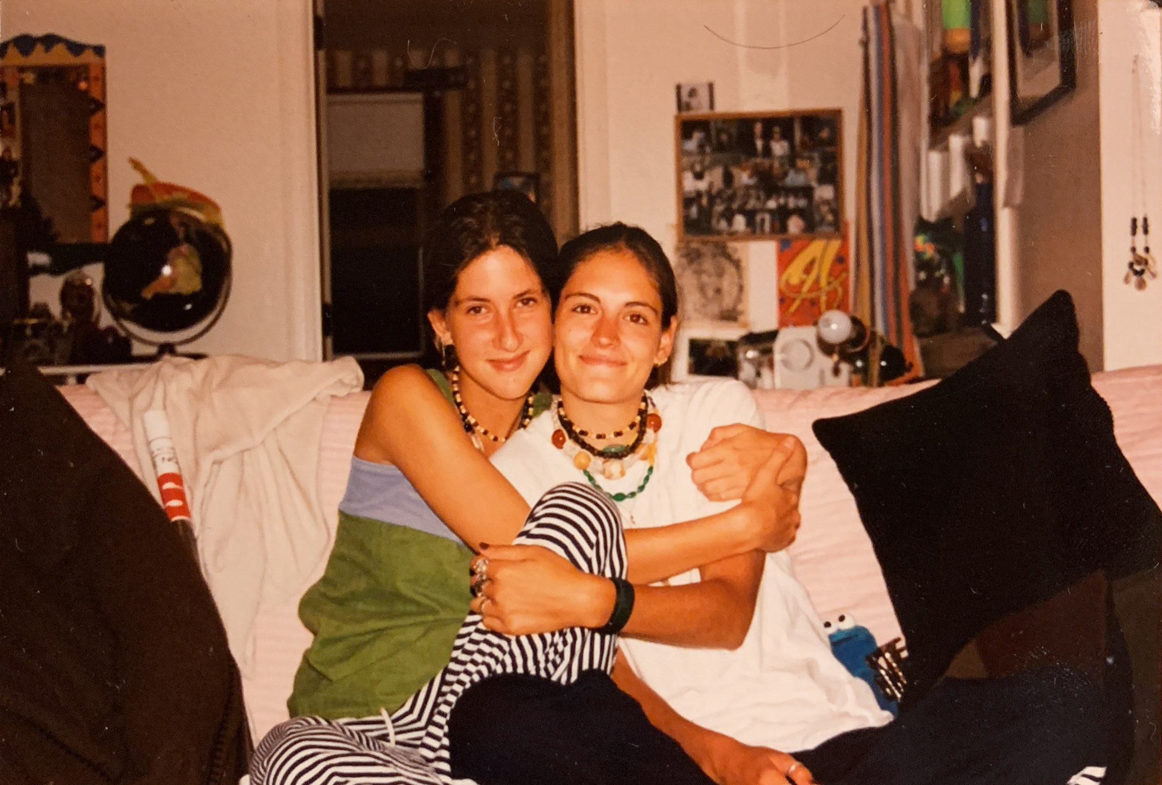 Maggie and Haystack Stories co-founder Jayna in 1997 (and a whole lot of necklaces).