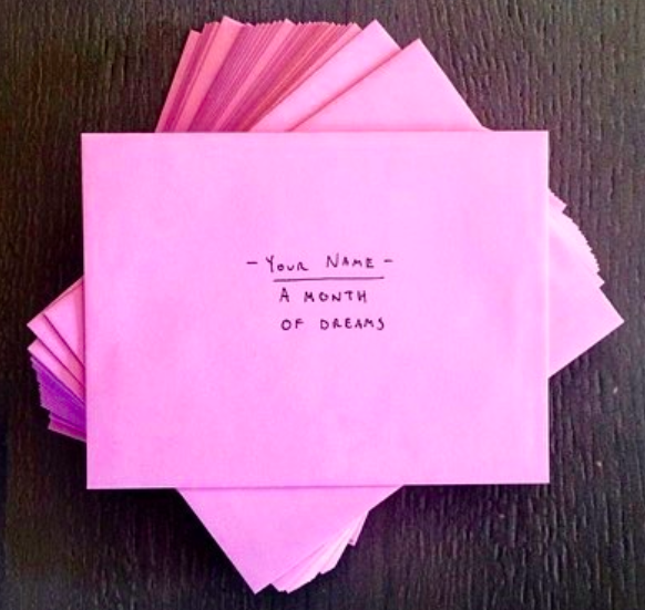 Don't you want a month of dreams in these little envelopes?