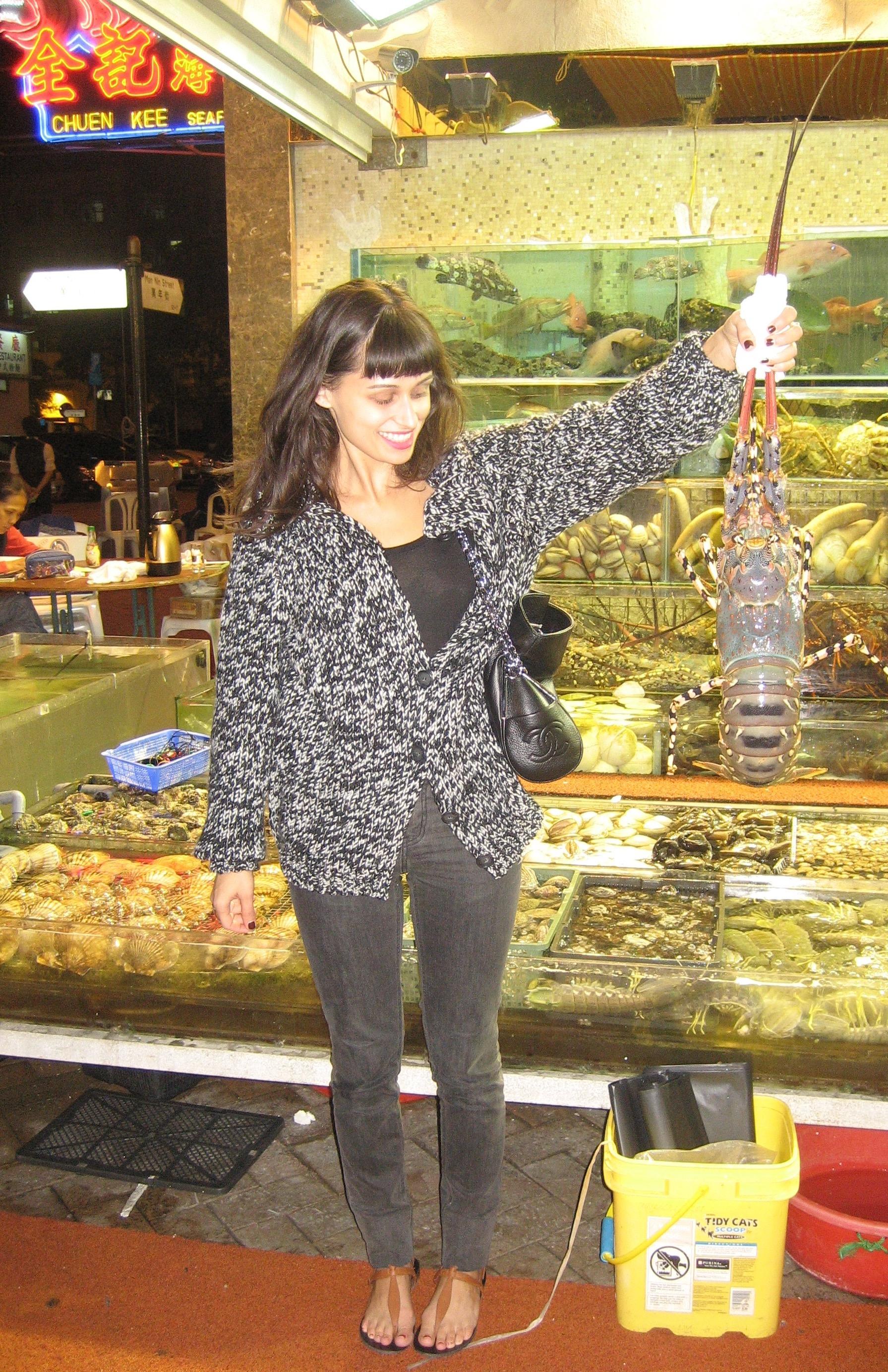 Lisa (and a lobster) circa 2004.