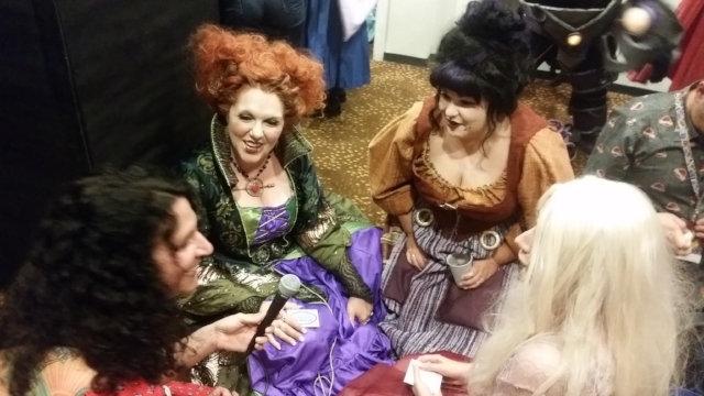 Sanderson Sisters, witches of Hocus Pocus (Master category winners Erin Smith, Jenn Sapp, and Brit Roberds )