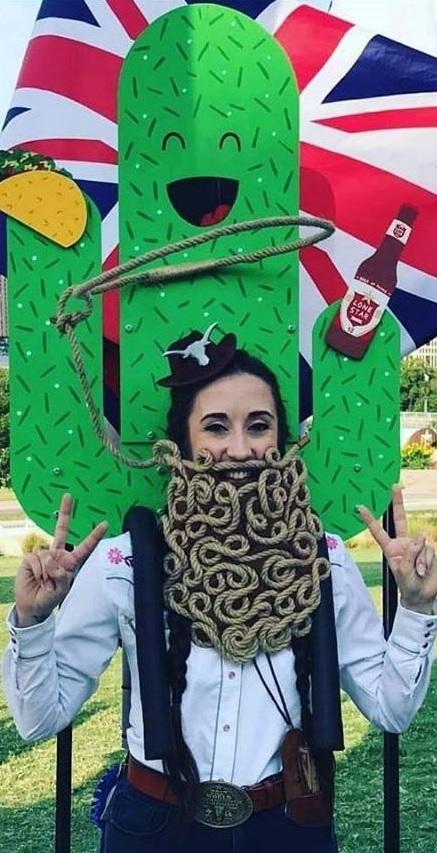 Whiskerina! Alice Jelley: Creative Beard World Champion - photo Courtesy of Austin Facial Hair Club