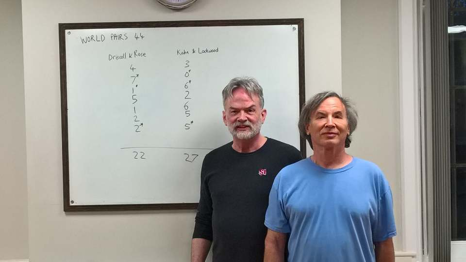2019 World Pairs champions, Dave Lockwood and Larry Kahn  photo:  http://tiddlywinks.org/
