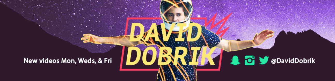 """David Dobrik :   This vlog channel is full of the most random nonsense that is both crude and hilarious to me. Normally this type of content is not my go to, but the brevity of the the videos and wittiness of some of the humor has me hooked. The """"Vlog Squad"""" (as they are called)does a lot of mostly ill-advised pranks and stunts for the sake of entertainment, subscriptions and views. The majority of the influencers in the videos got their start on Vine which should explain a lot to those who knew of that platform. Personally, I think it is a great look at social media culture nowadays through the lens of an individual who is doing it successfully. Plus I just think it is funny."""