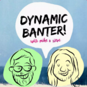 """Dynamic Banter :   This is already an all time favorite of mine and it isn't even that old. Steve Zaragoza and Mike Falzone are two comedic fellas with the exact type of social awkward humor that I am into. It is whacky and nonsensical in the best ways. Normally my go to is smart and witty humor, but these two hit my soft spot for """"goof"""" every-time. This past month the Dynamic Banter episodes have really been a light in the doldrums of winter dreariness."""