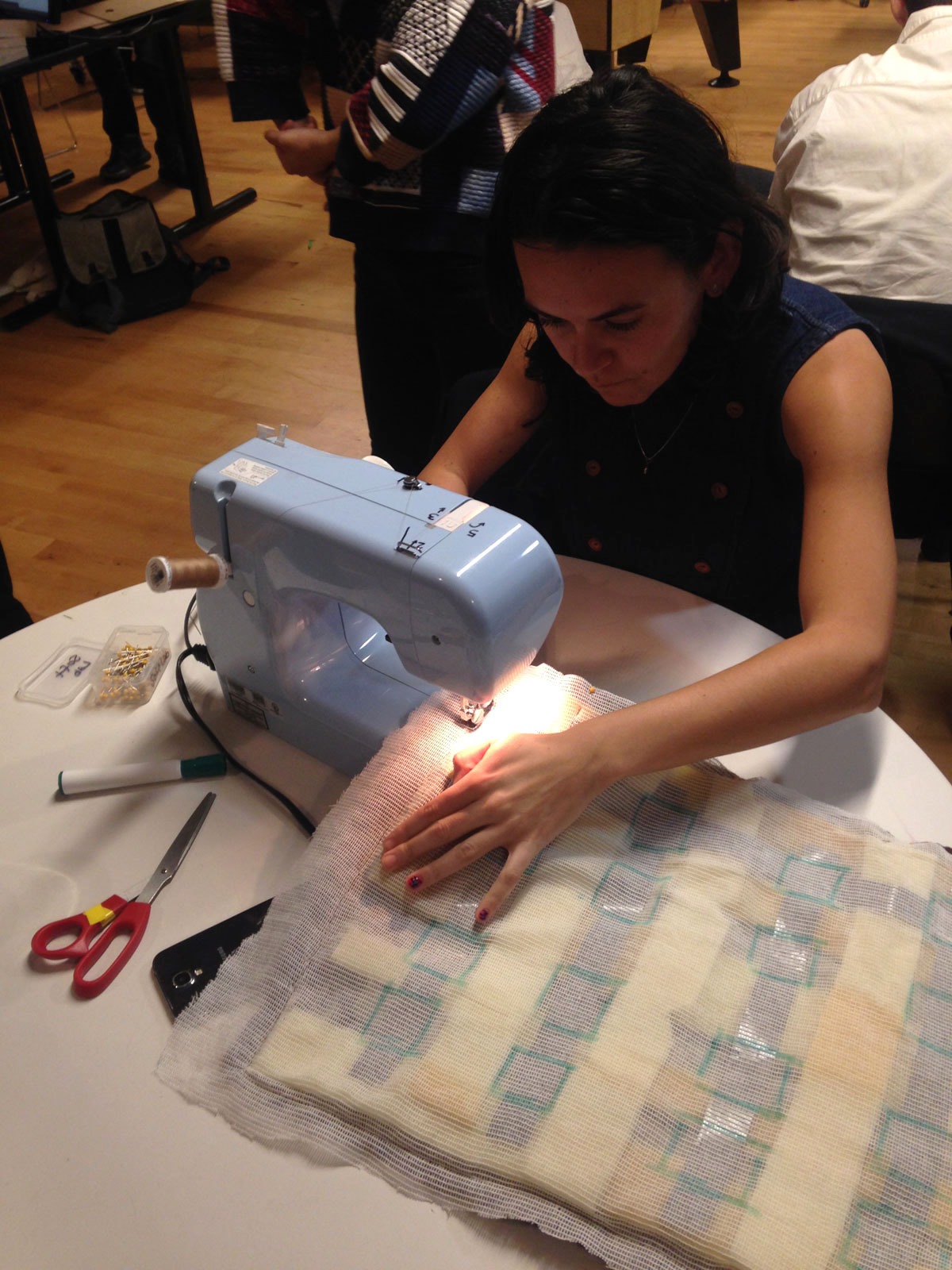 Sewing the first prototype