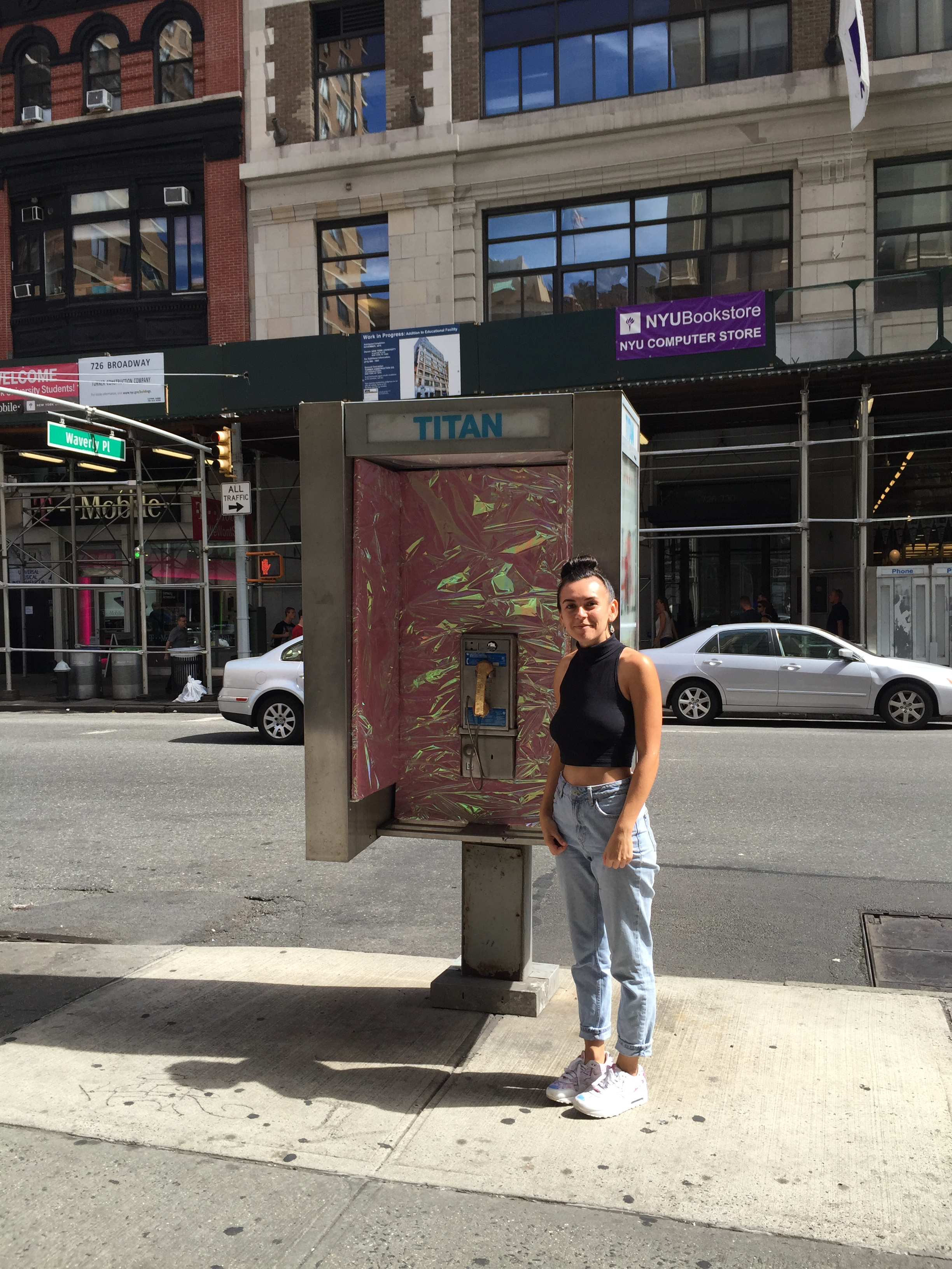 Transformed a New York City phone booth into  Throne Booth