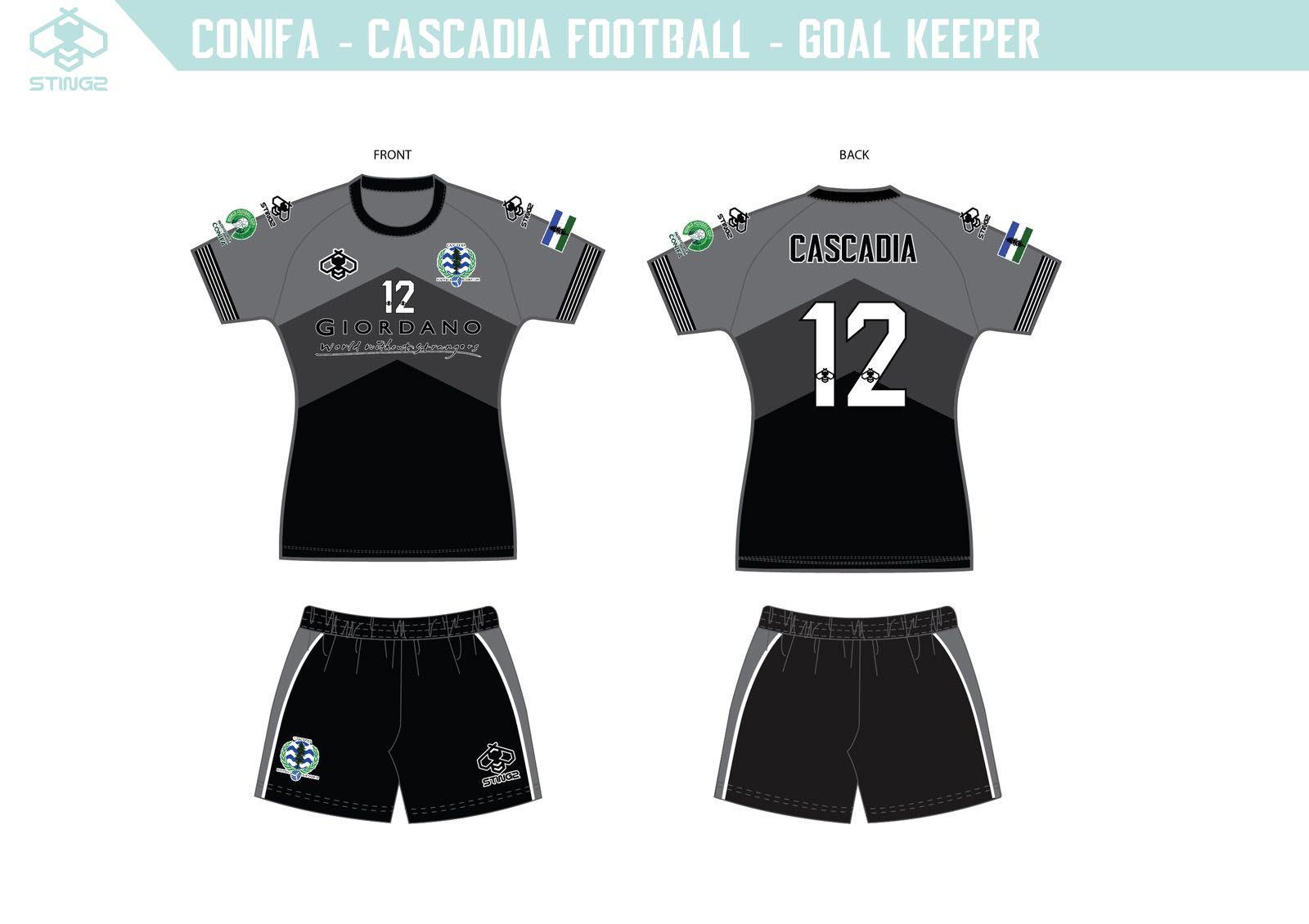 Team Cascadia Goalkeeper Home Kit