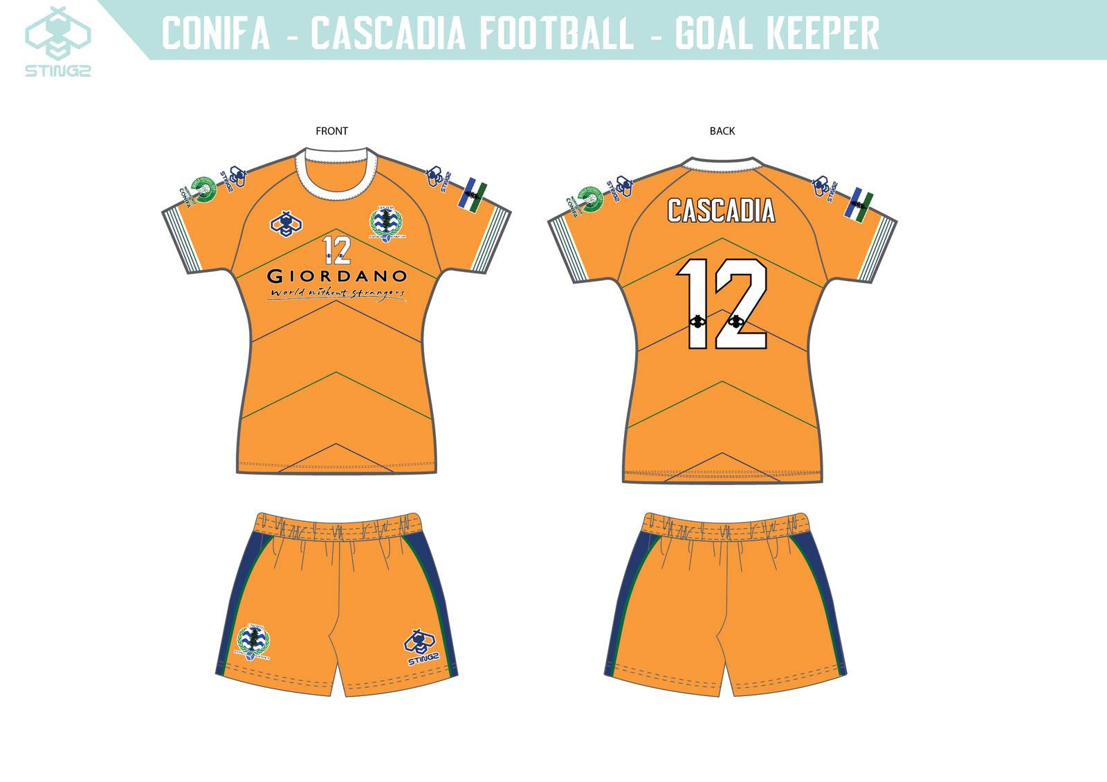 Team Cascadia Goalkeeper Away Kit