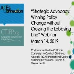 Strategic Advocacy Webinar Slides