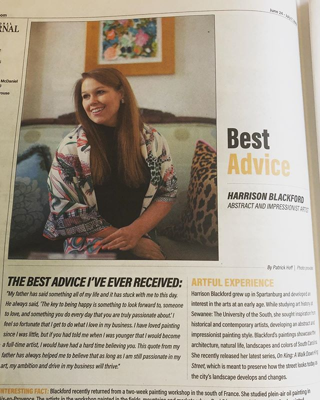 Great Wednesday seeing our clients in @crbjnews and @postandcourier! Lucky to work with @harrisonblackfordart and @parkersav