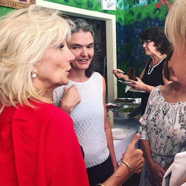 We had the pleasure of meeting Dr. Jill Biden this morning at @eatdellz on the Crosstown! It was great hearing her stories from the White House and the campaign trail.