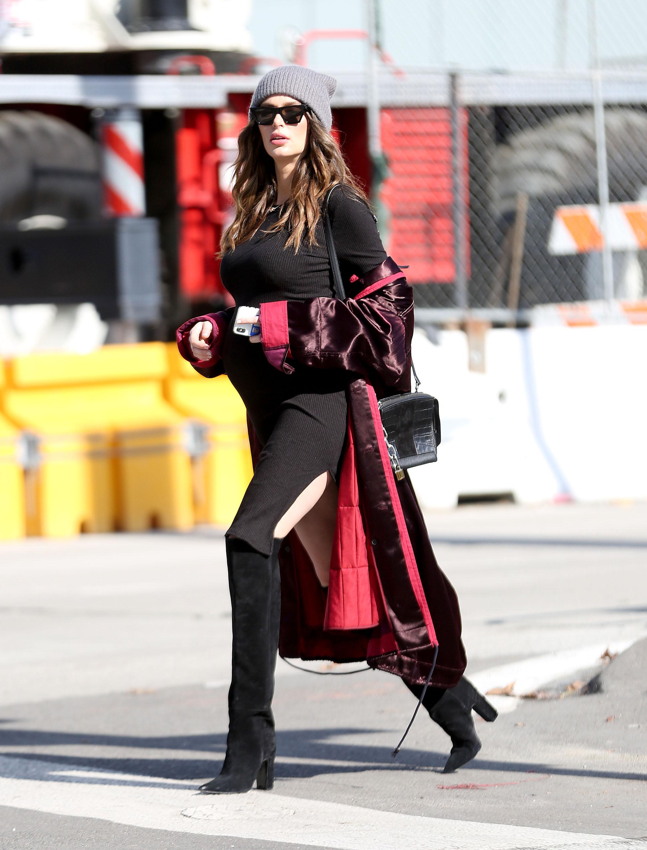 Look. - - Enza Costa Dress- Haider Ackermann Jacket- Kooples Beanie- Barbara Bui Boots- Celine Glasses- Alexander Wang Bagshop the look below