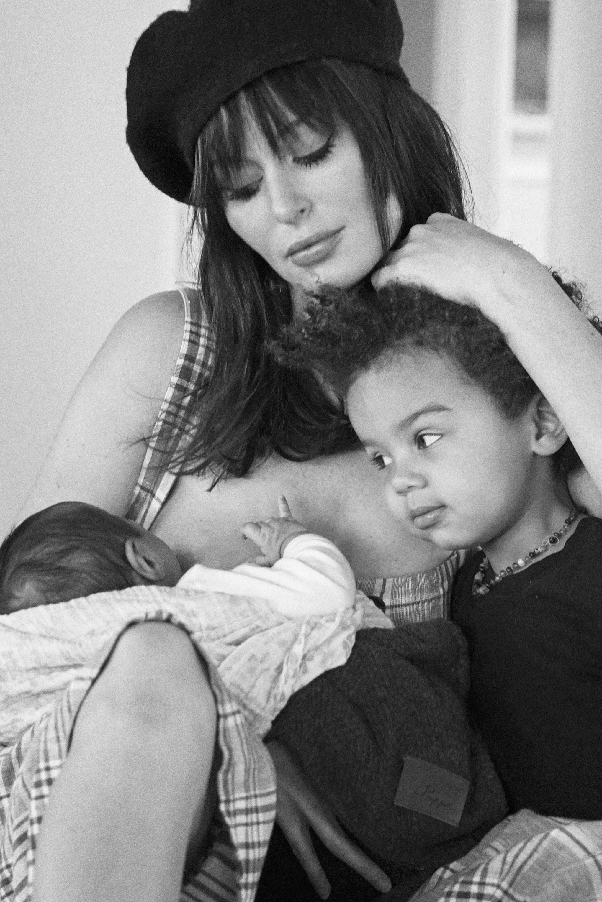 Nicole Trunfio and Kids Zion and Gia Mothers Day