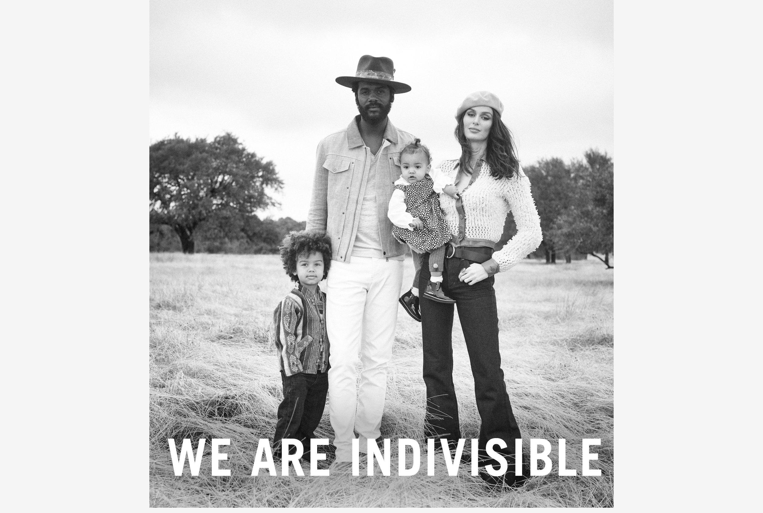 Nicole Trunfio Gary Clark Jr & Family - John Varvatos campaign