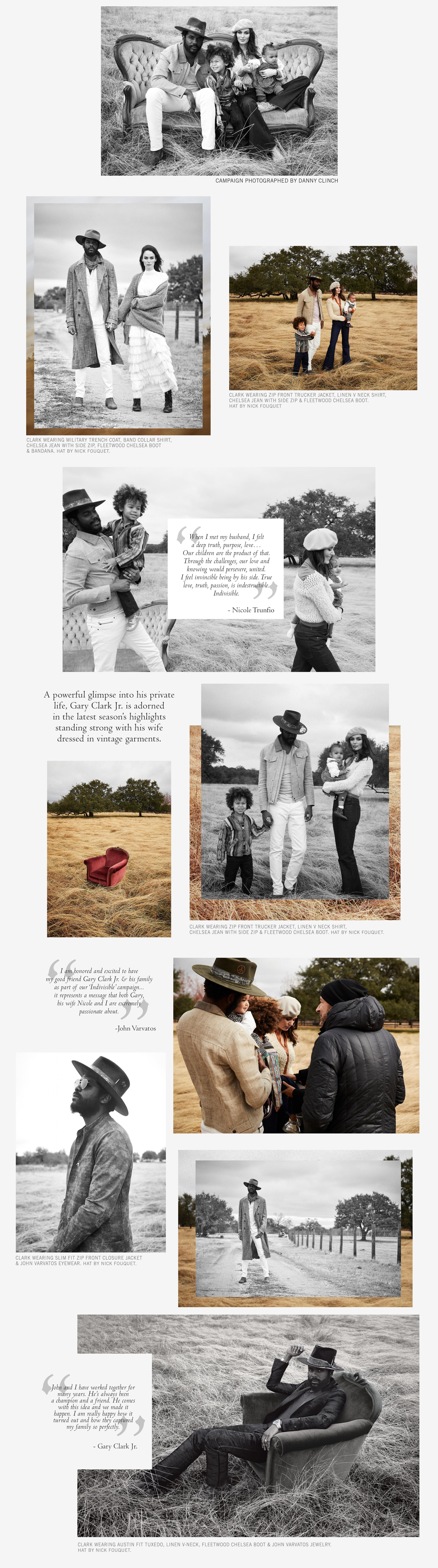 Nicole Trunfio Gary Clark Jr & Family - John Varvatos campaign main