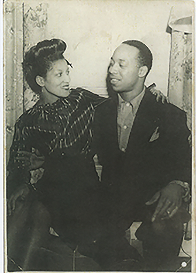 """Mrs. Beatrice Gordly and Mr. Fay Gordly early 1940's. """"They loved to dance and worked hard to raise a family and build community."""", Gordly-Burch Family Archive."""