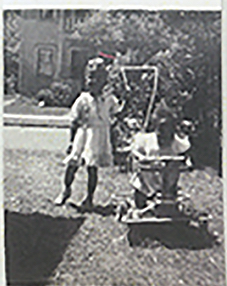 Avel Gordly and sister Faye Marie Burch (in stroller), Gordly-Burch Family Archive.