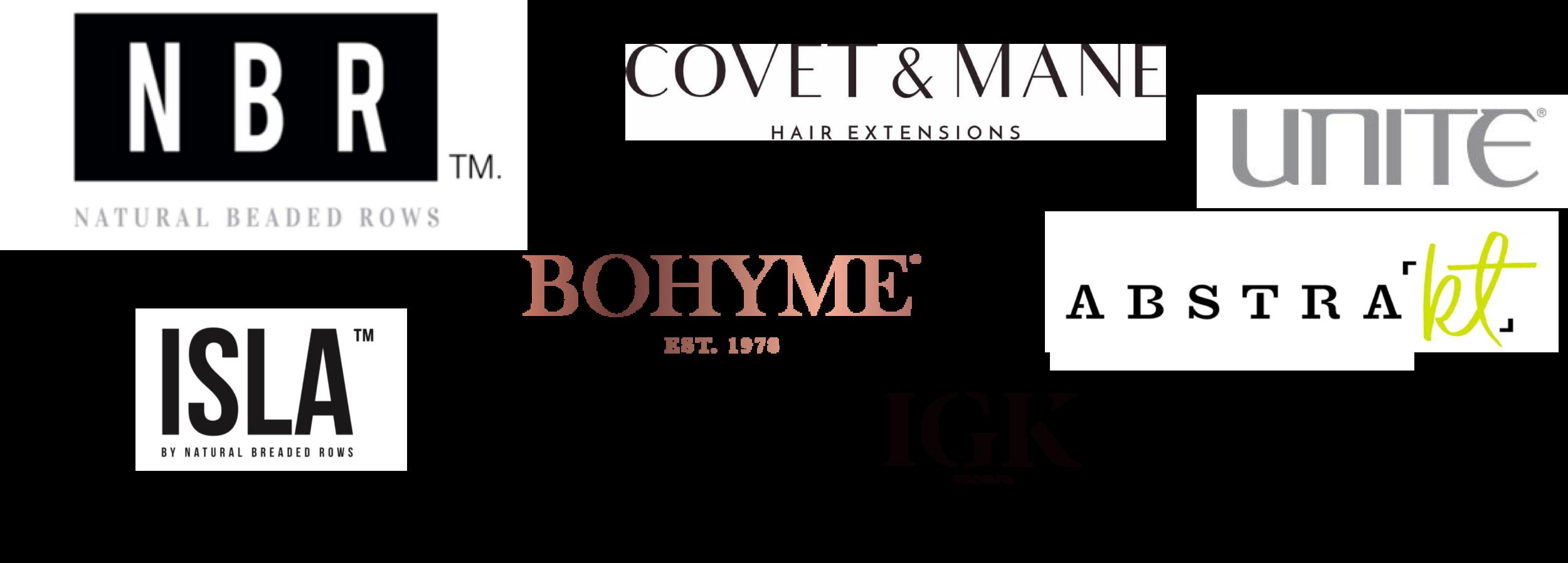 Boyhme Covet & Mane ISLA Hair Extensions IGK Hair Unite Abstrakt NBR