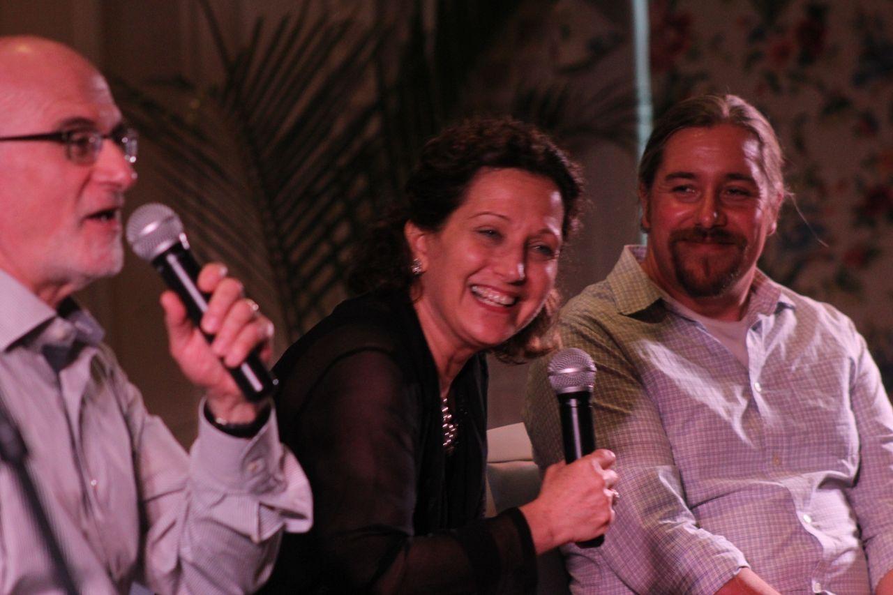 Sirota, Chesis and Scholes at pre-concert talk.jpg