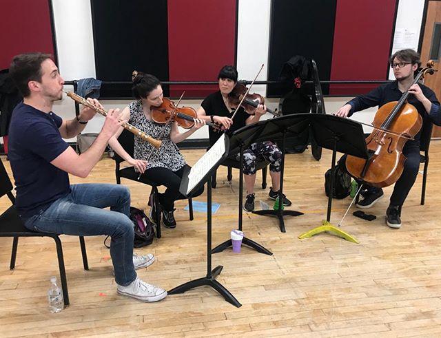 Mozart Quartet rehearsal #oboe #chambermusic #mozart