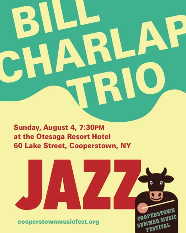 Tickets going fast! Don't miss the wonderful Bill Charlap Trio: Sunday, Aug 4 at the Otesaga.  https://www.brownpapertickets.com/event/4229050.  #standardjazz  #americansongbook  #jazzpianotrio  #otesagahotel  #pianojazz