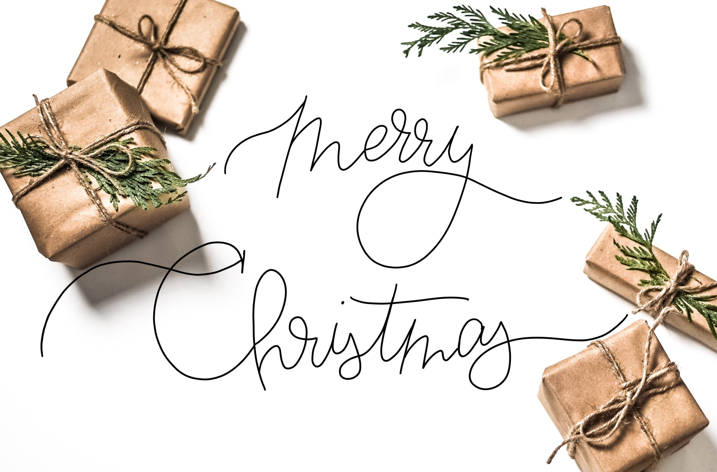 merry Christmas script with gifts