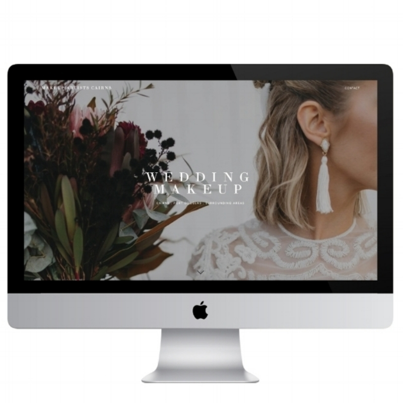 Imo Creative - squarespace website homepage design for makeup artists cairns