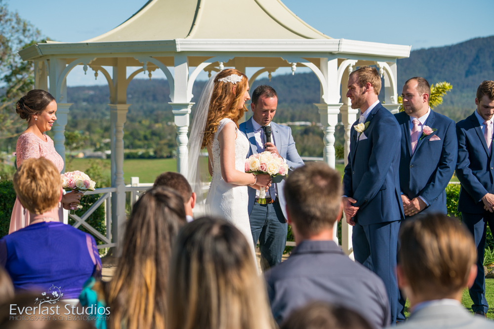 Topiaries wedding ceremony photography