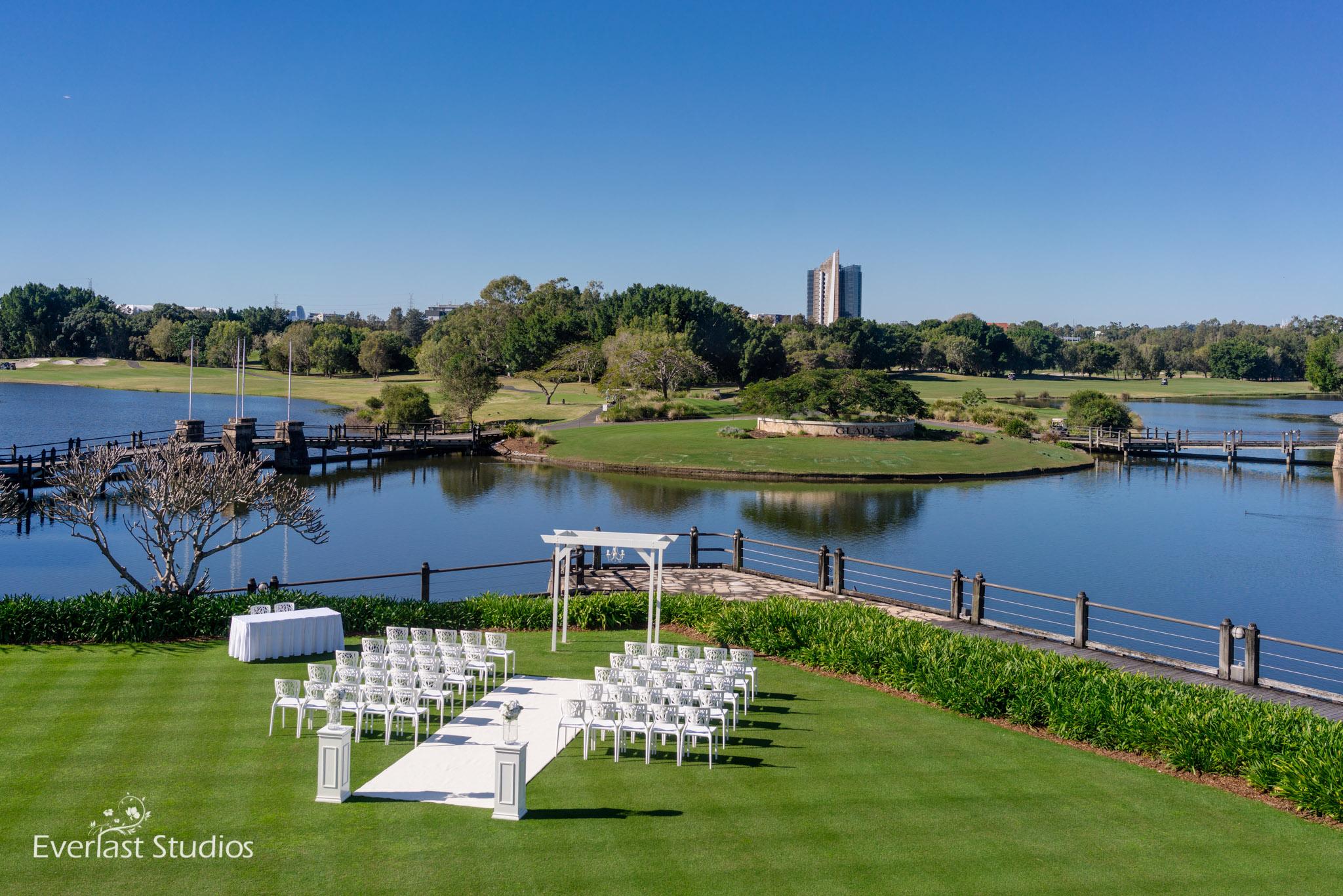Glades Golf Club wedding ceremony
