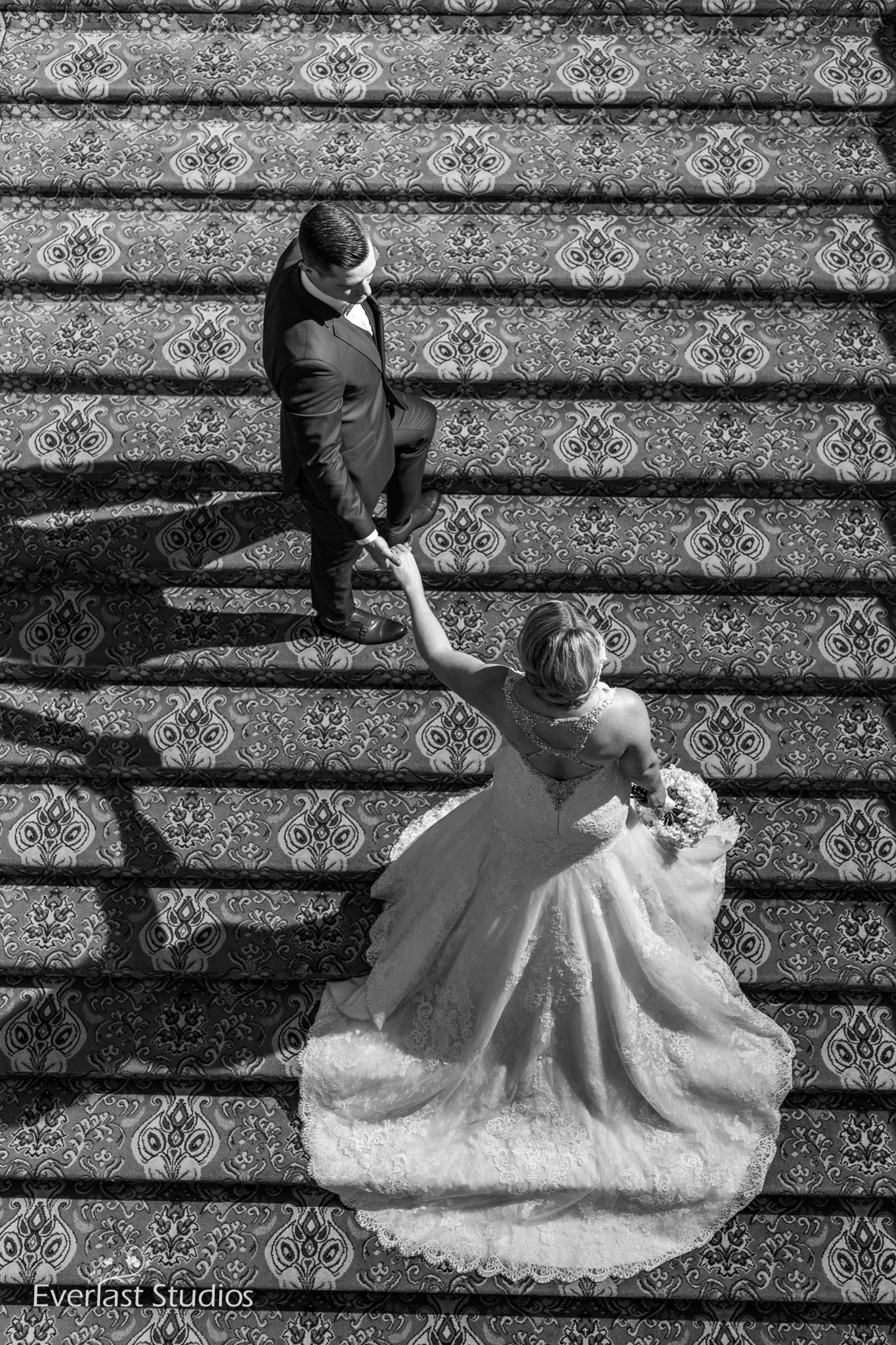 Popular staircase for wedding photos in Brisbane