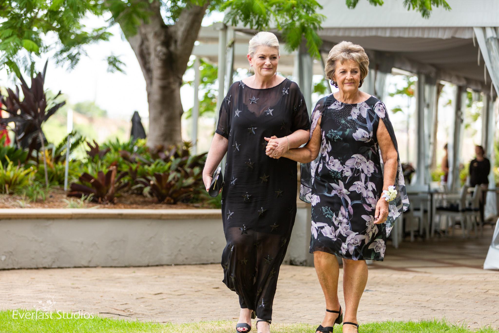 Mums walking down the isle Brisbane Wedding