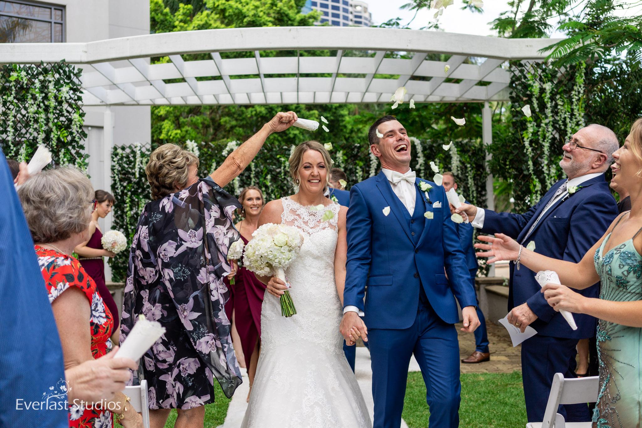 Petal Exit, Wedding Ceremony at Stamford Plaza Brisbane