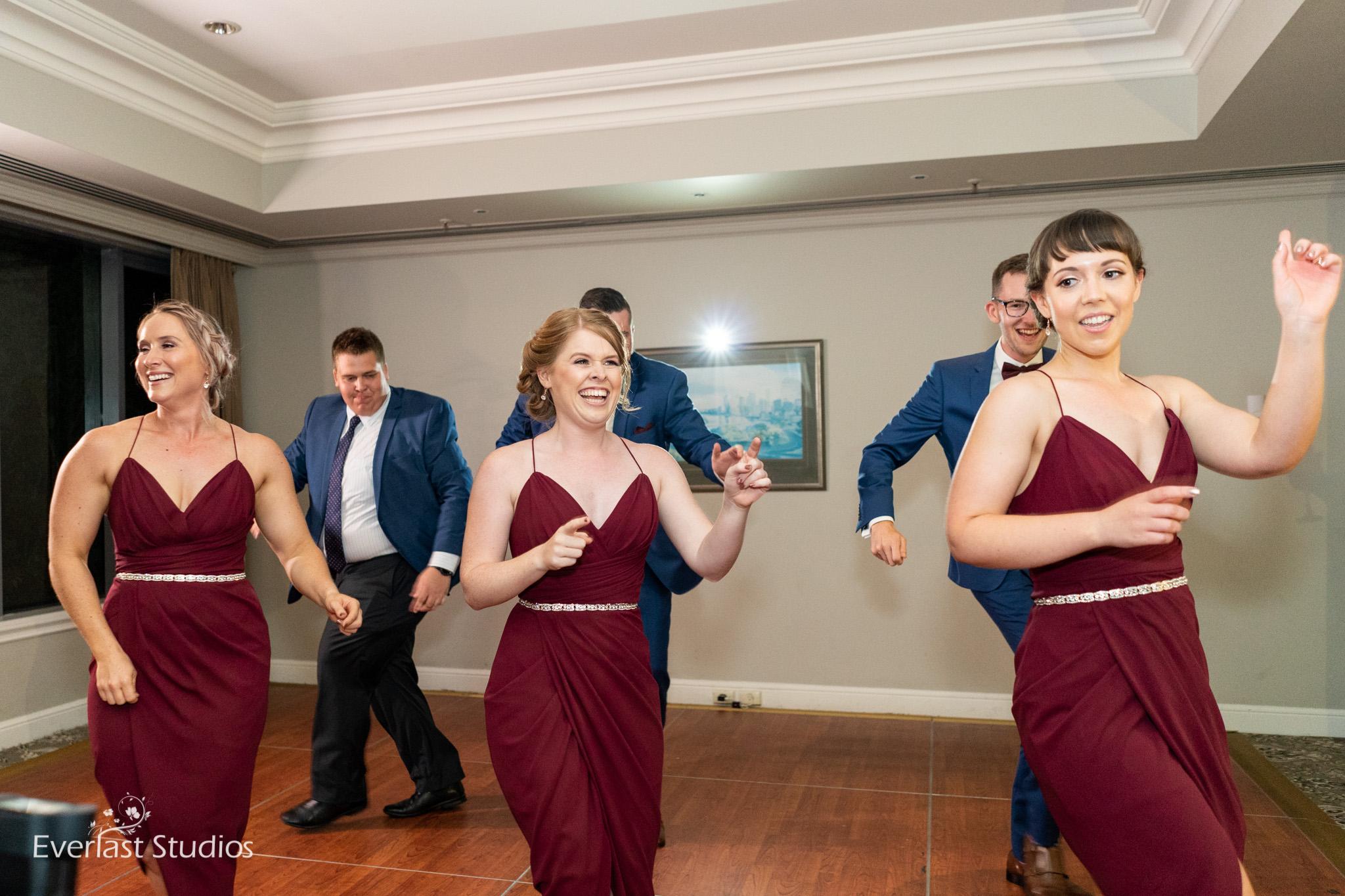 Wedding Flash Mob Bridal Party
