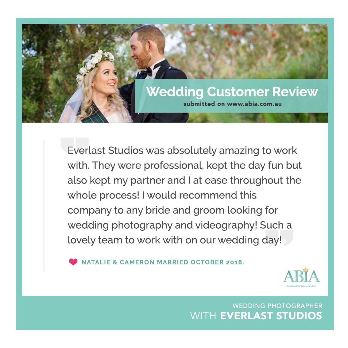 Everlast Studios - ABIA Review - Natalie & Cameron