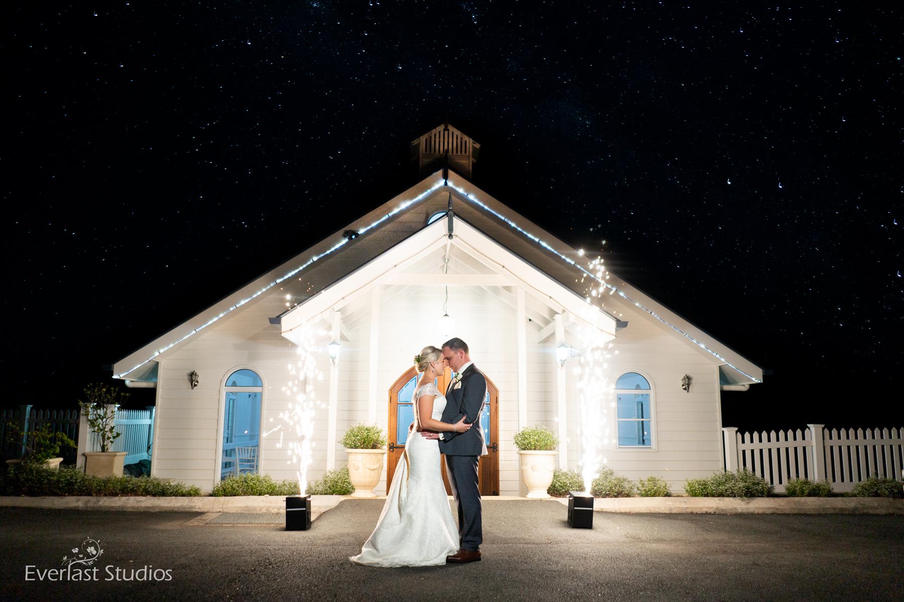 Wedding Photography Milky way sparklers Tiffany's Maleny