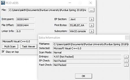 PEiD Output of Lab11-03.exe