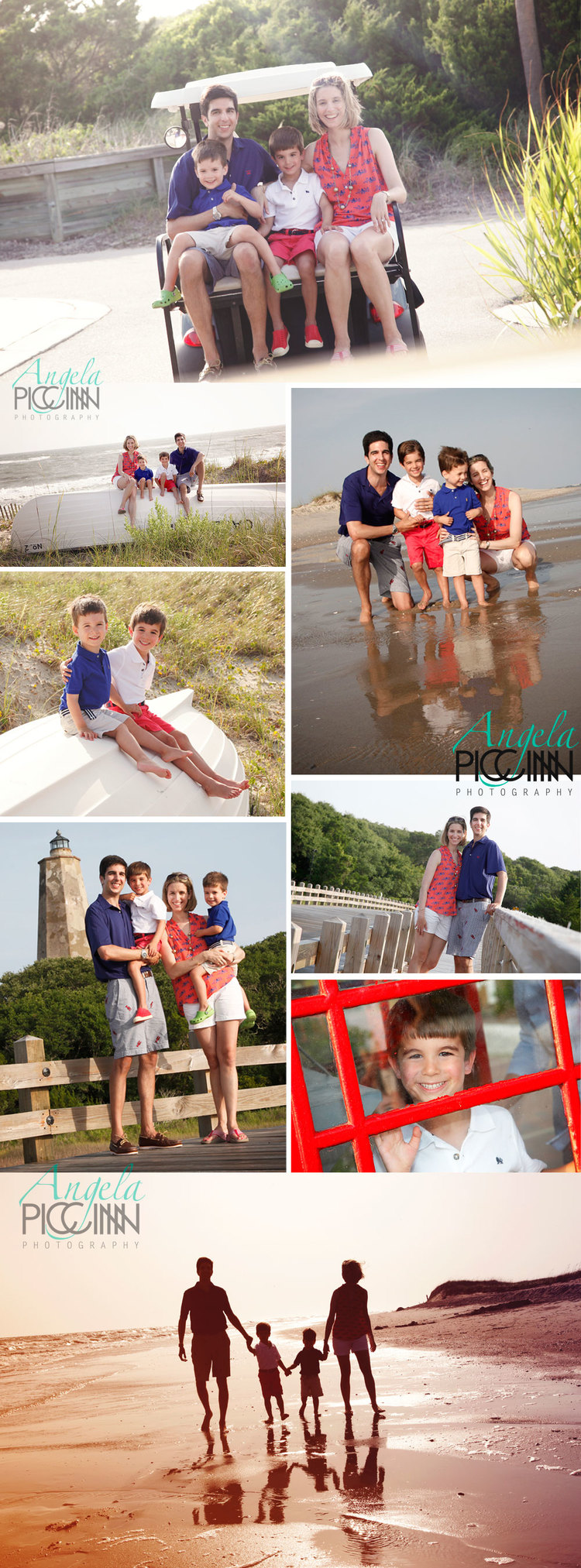 Bald Head Island Family Portraits by Angela Piccinin