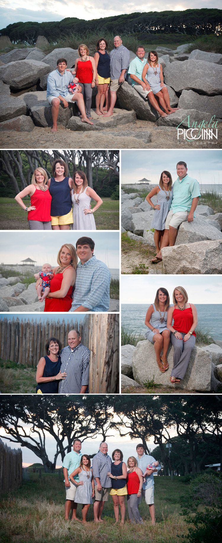 Fort Fisher Family Portraits by Angela Piccinin