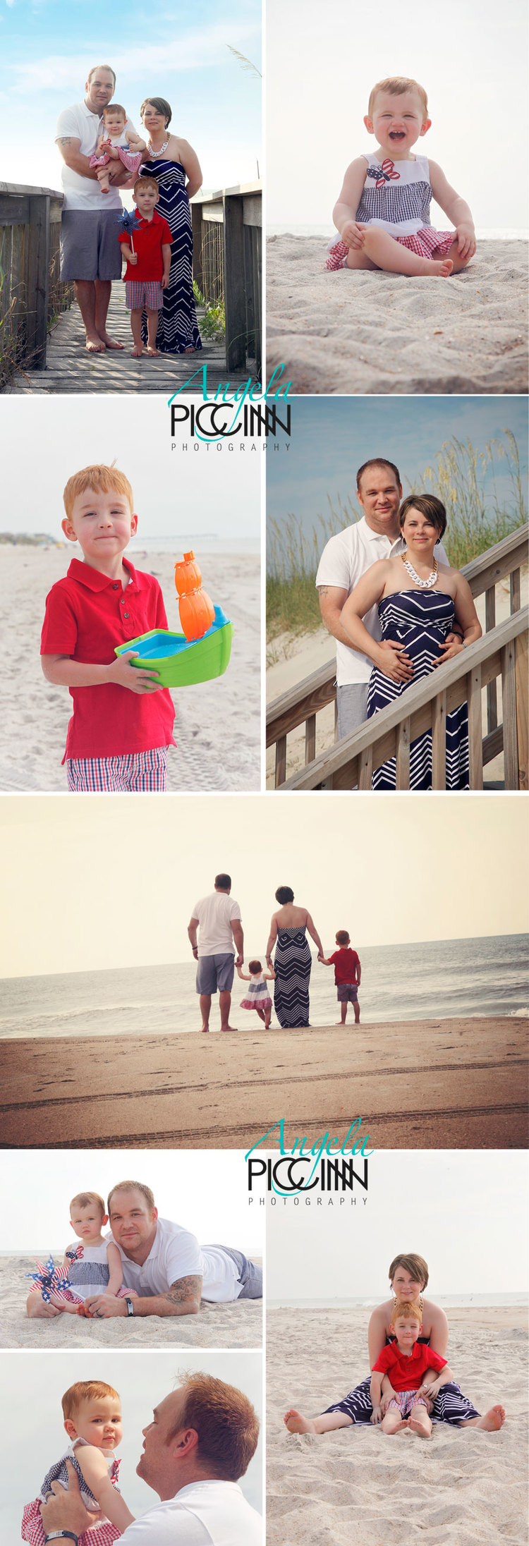 Carolina Beach Family Portraits by Angela Piccinin